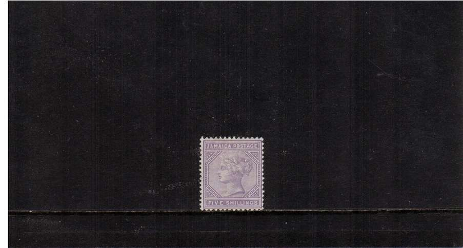 5/- Lilac. A stunning stamp superb unmounted mint!! Rare in this condition!