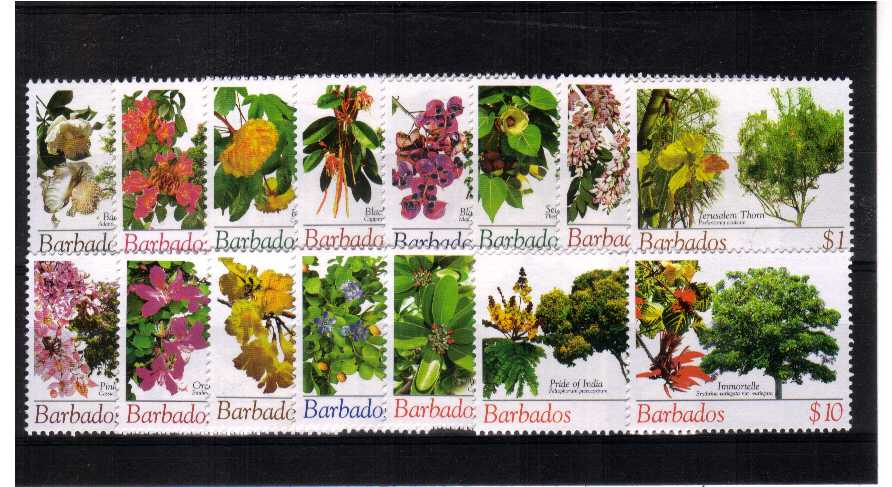Flowering Trees - A superb unmounted mint set of fifteen.<br><b>XLX</b>