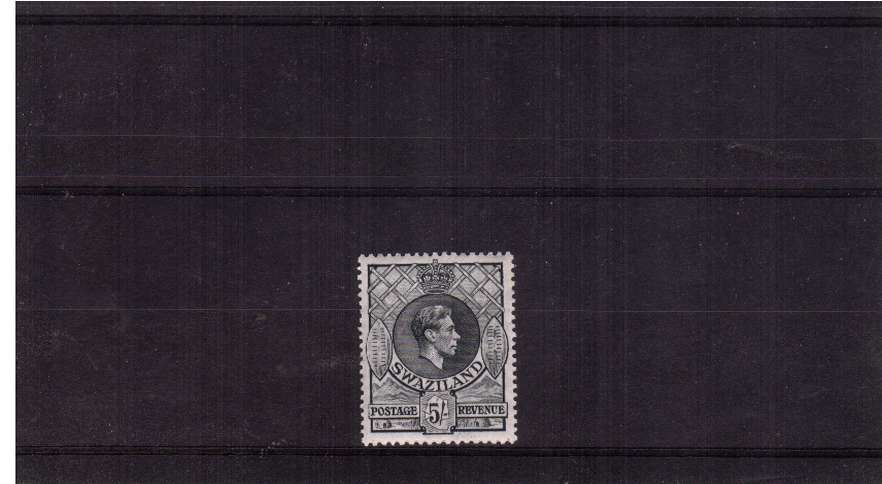 5/- Slate definitive single - perforation 13絰14 lightly mounted mint.<br/><br/>
