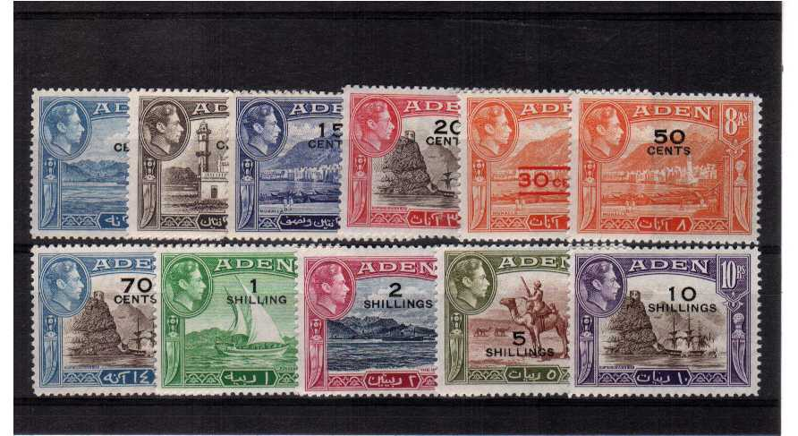 Superb unmounted mint set of eleven.<br/><b>QQX</b>
