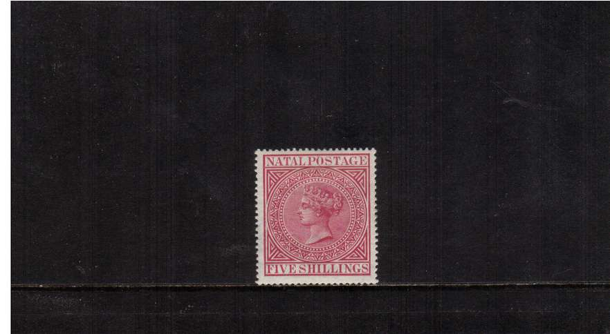 5/- Carmine. A stunning superb very lightly mounted mint stamp. Very fresh.<br/><br/>