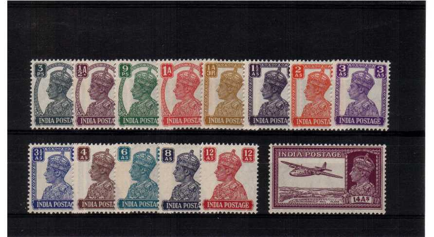 A superb unmounted mint set of fourteen with WHITE BACKS, not Brown gum!.<br/><b>QGQ</b>