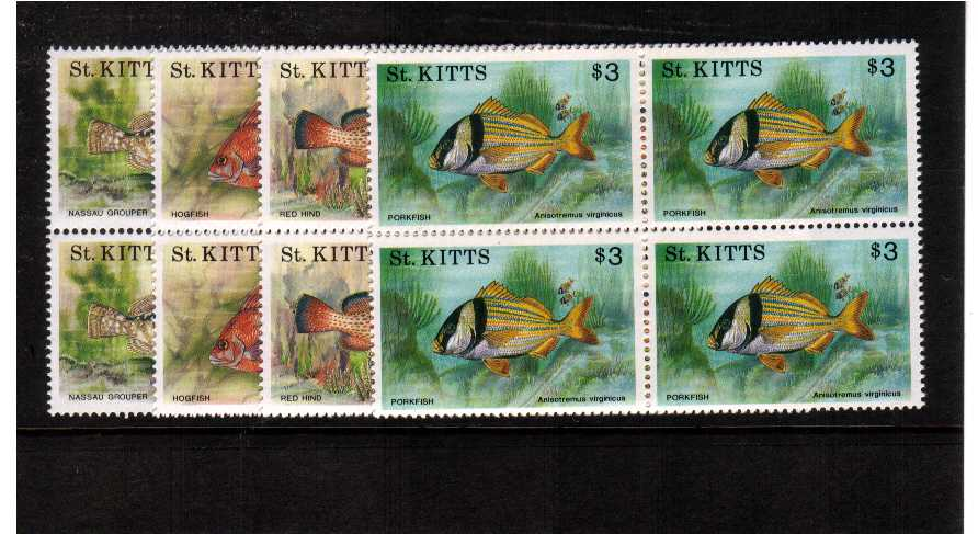 superb unmounted mint blocks of 4