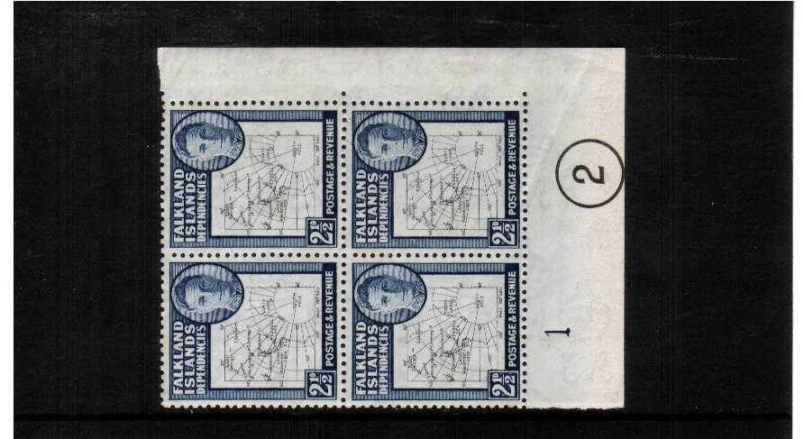 superb unmounted mint corner plate block of four