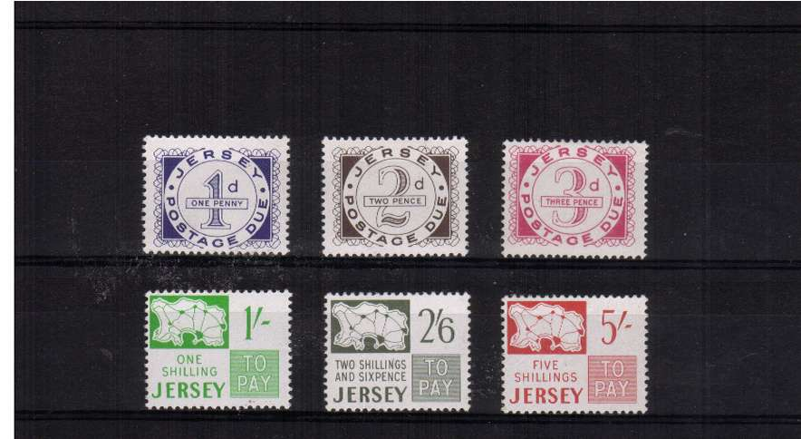 A fine lightly mounted mint set of six