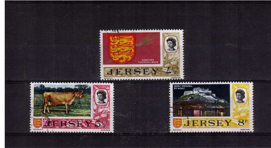 The later three values set of three superb fine used.