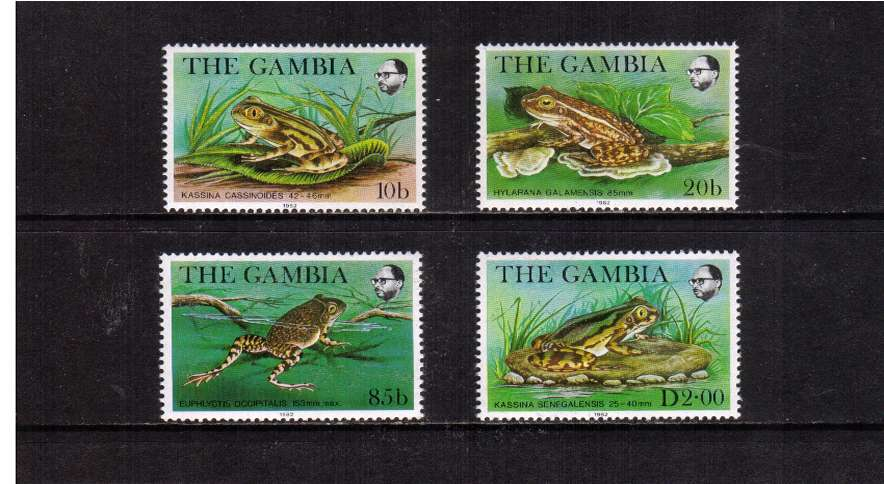 Frogs set of four superb unmounted mint