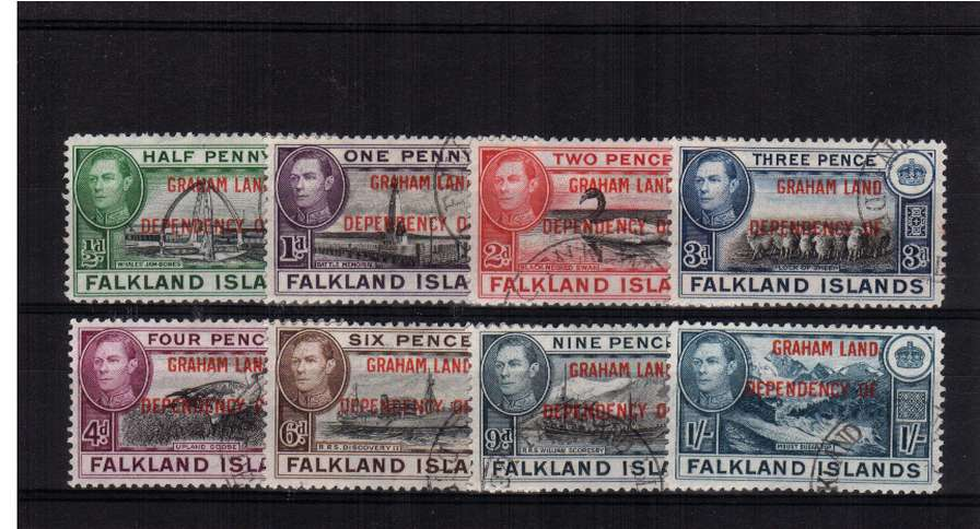 GRAHAM LAND - overprint set of eight superb fine used.<br><b>XPX</b>