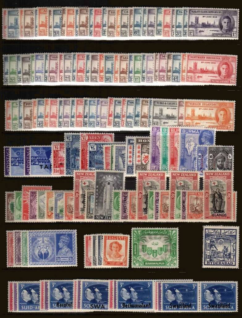 Victory set of 164 stamps superb unmounted