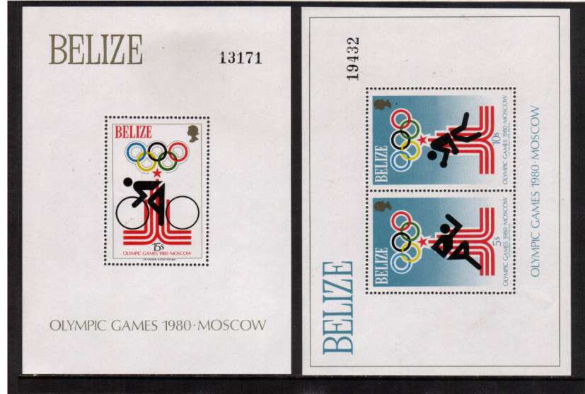 Olympic Games - Moscow (1980) set of two minisheets superb unmounted mint.