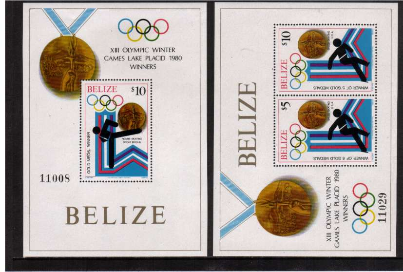 Medal Winners - Winter Olympic Games - Lake Placid set of two minisheets superb unmounted mint.