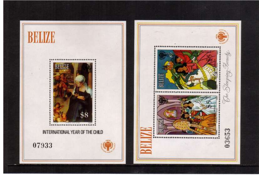 International Year Of The Child (2nd Issue) set of two minisheets superb unmounted mint.