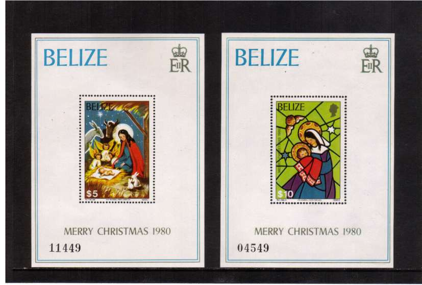 Christmas set of two minisheets superb unmounted mint.