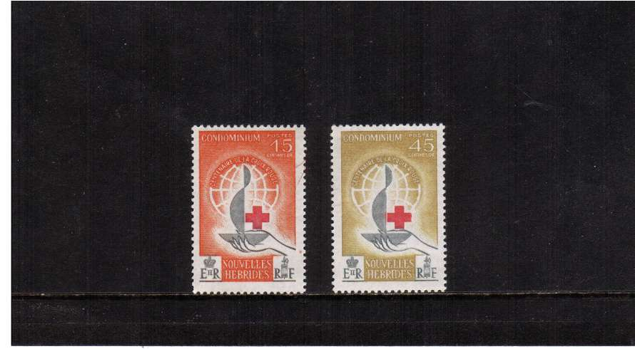 Red Cross set of two superb unmounted mint