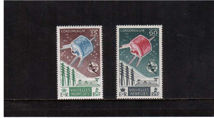 I. T. U. Centenary - Space Satellite set of two superb unmounted mint.