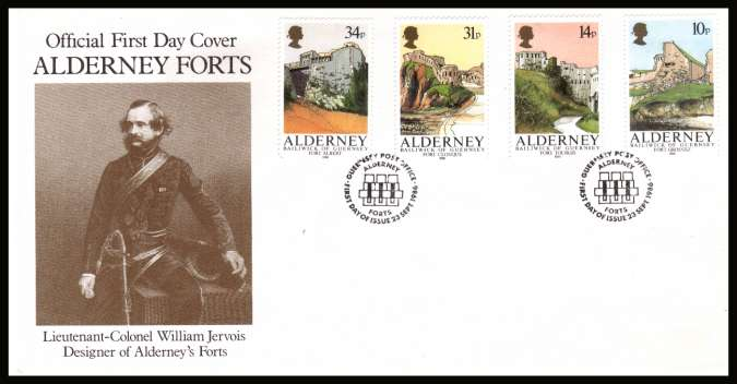 Alderney Forts set of four