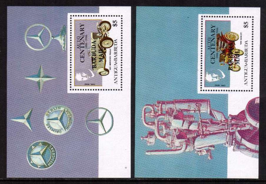 Centenary of First Benz Motor Car set of two minisheets superb unmounted mint.