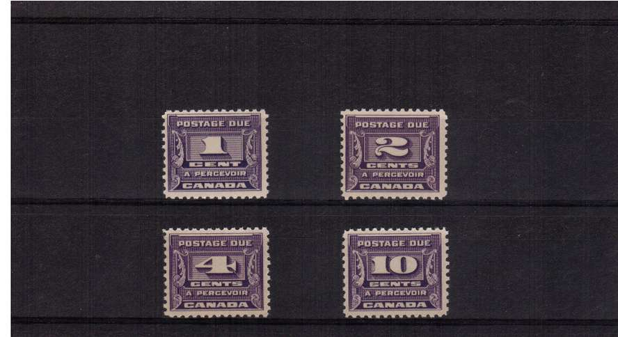 The 1933 Postage Due set of four supern unmounted mint. Scarce unmounted!