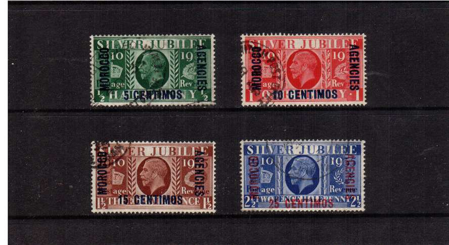 Silver Jubilee set of four superb fine used.<br/><b>SEARCH CODE: 1935JUBILEE</b><br/><b>ZKL</b>