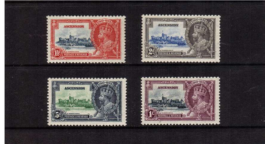 Silver Jubilee set of four superb unmounted mint.<br/><b>SEARCH CODE: 1935JUBILEE</b><br><b>QMQ</b>