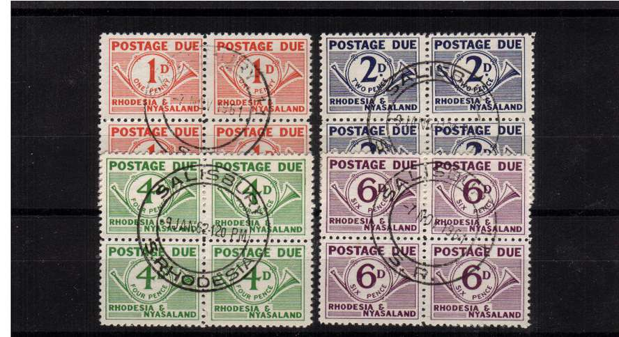 Postage due set of four in superb fine used blocks