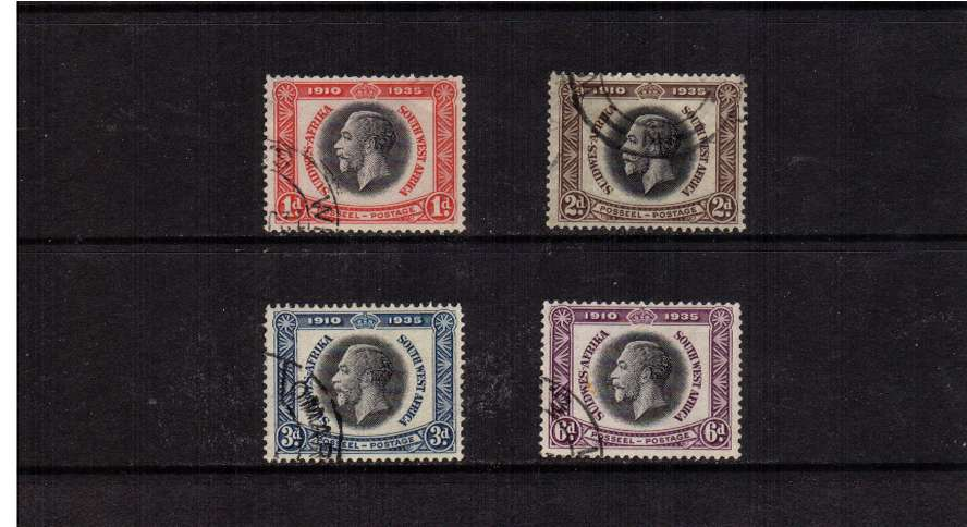 Silver Jubilee set of four superb  fine used.<br/><b>SEARCH CODE: 1935JUBILEE</b>