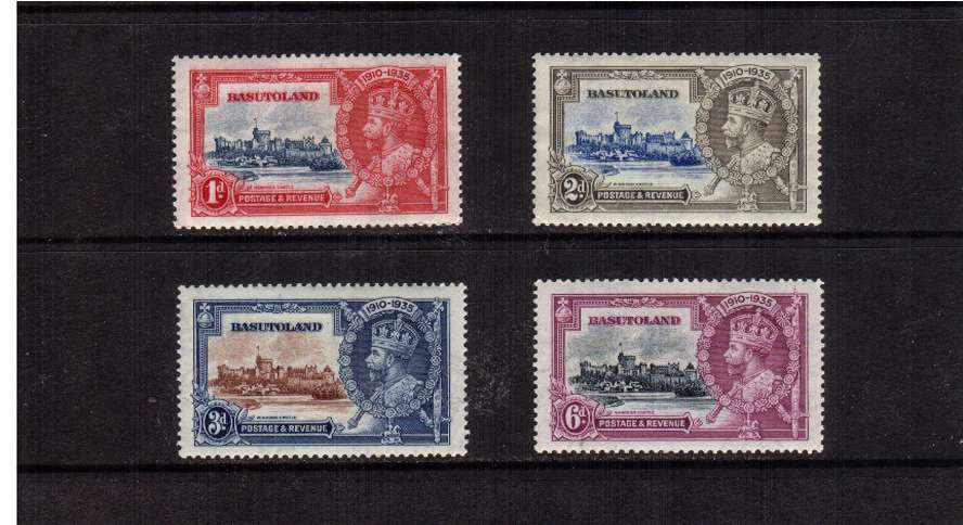 Silver Jubilee set of four lightly mounted mint.<br/><b>SEARCH CODE: 1935JUBILEE</b><br/><b>QTQ</b>