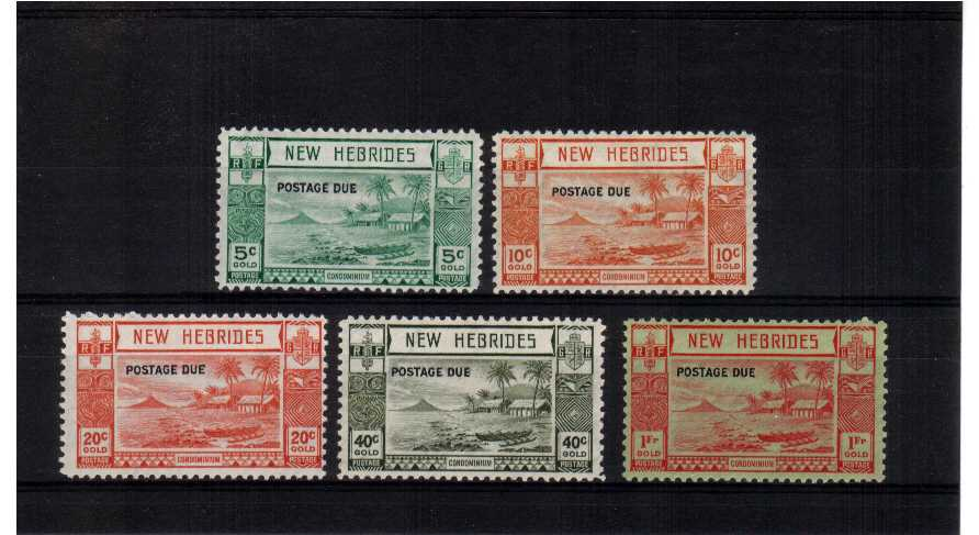fine mounted mint set of 5