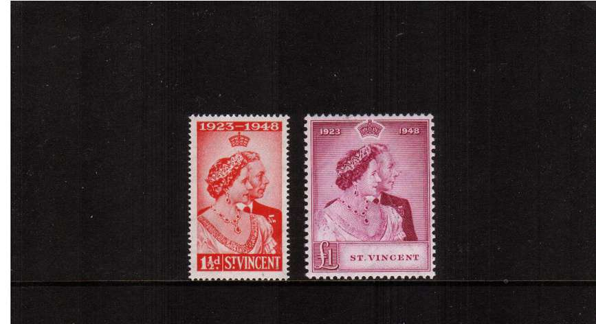 The Royal Silver Wedding set of two superb unmounted mint.<br/><b>SEARCH CODE: 1948RSW </b><br/><b>UBU</b>