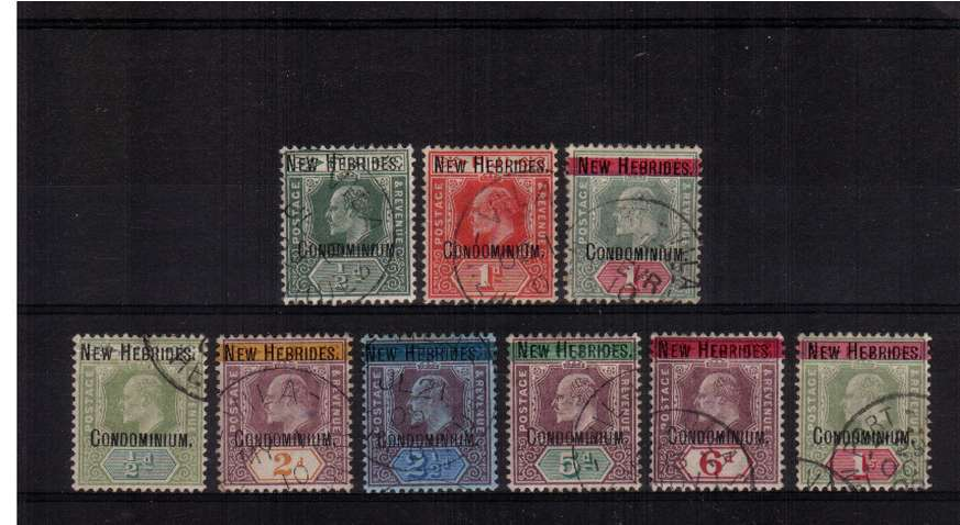 The first definitive set of nine in fine used condition. SG Cat �0.00
