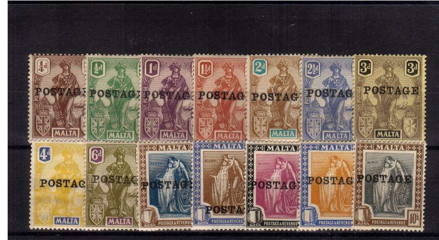 A fine lightly mounted mint set of fourteen. A bright and fresh above average set!