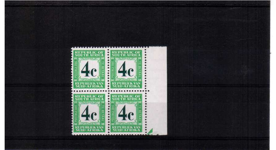 superb unmounted mint marginal block of 4   c3pr
