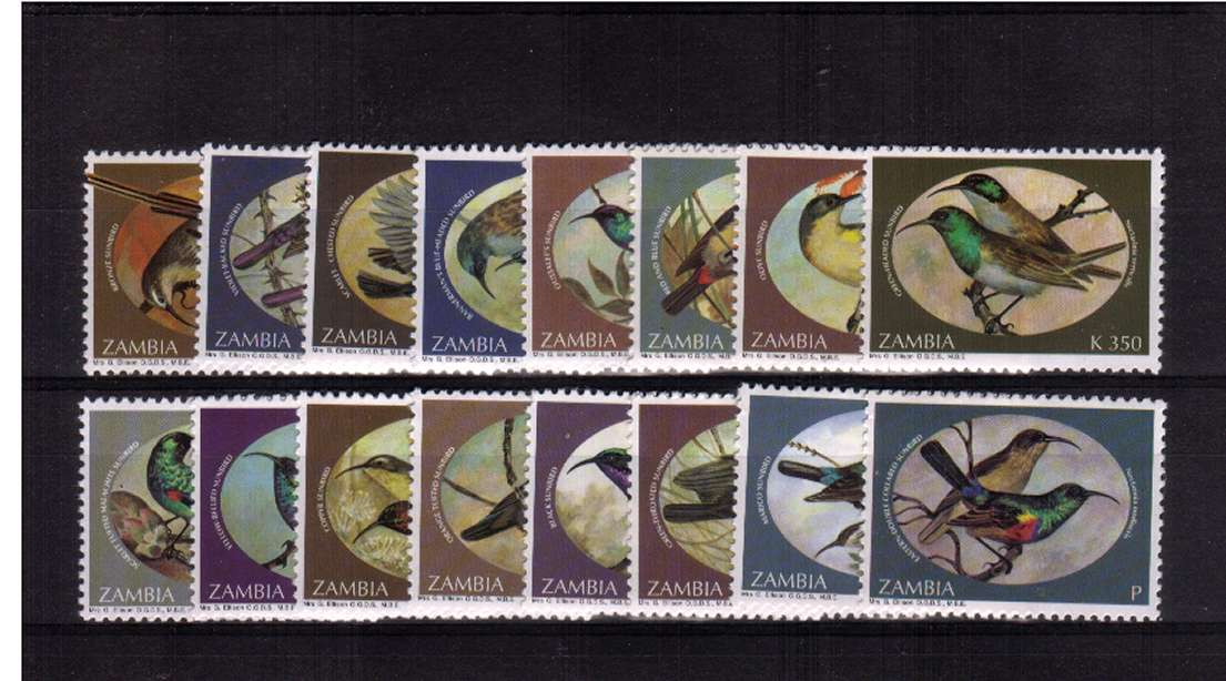 Birds set of sixteen the includes the NVI stamps superb unmounted mint. A seldom seen set!