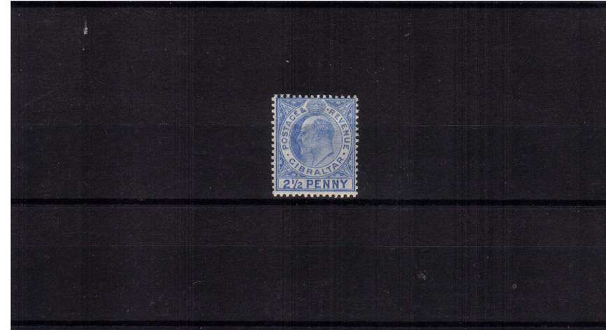 2½d Ultramarine.<br/>A good mounted mint stamp showing the listed variety ''Large 2 in ½''. SG Cat £300