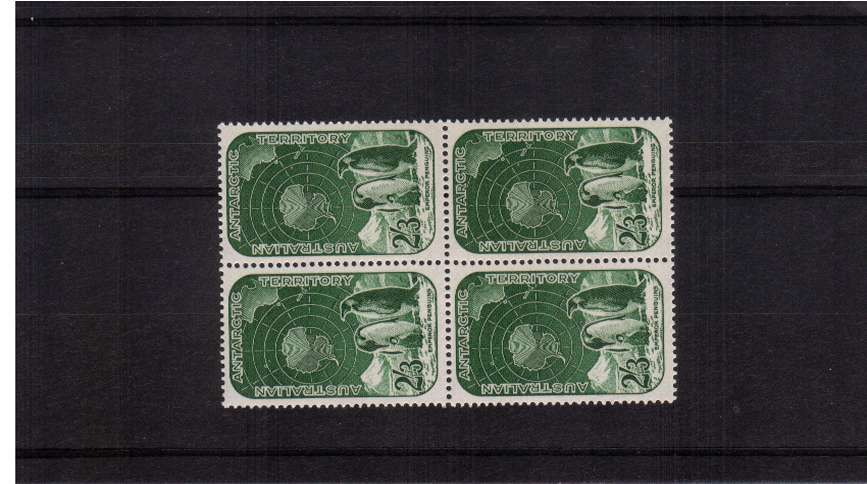 The top value to the set in a superb unmounted mint block of four. SG Cat �.00