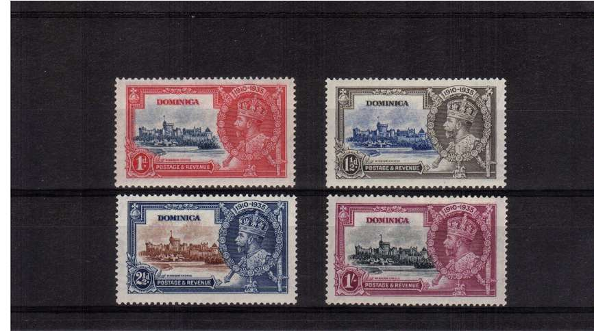 Silver Jubilee set of four superb unmounted mint.<br/><b>SEARCH CODE: 1935JUBILEE</b><br><b>QFQ</b>