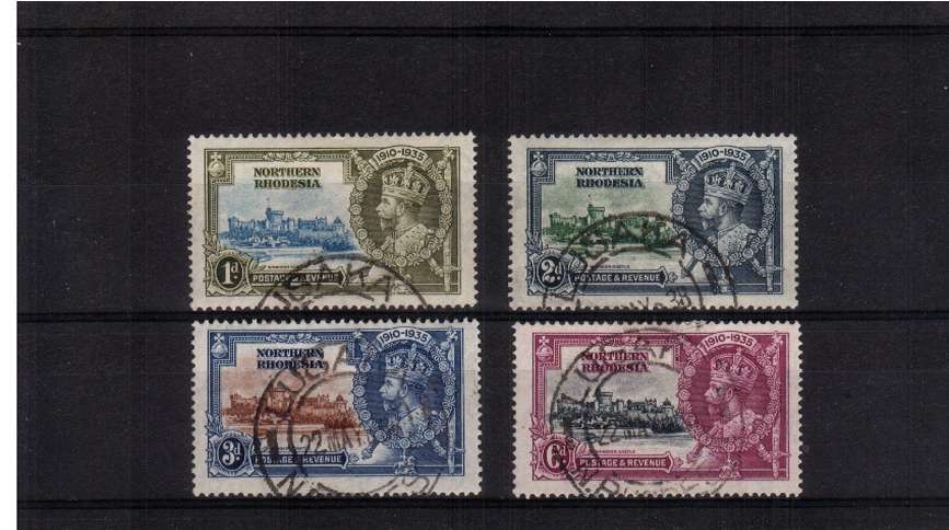 Silver Jubilee set of four superb fine used<br/><b>SEARCH CODE: 1935JUBILEE</b><br><b>ZKQ</b>