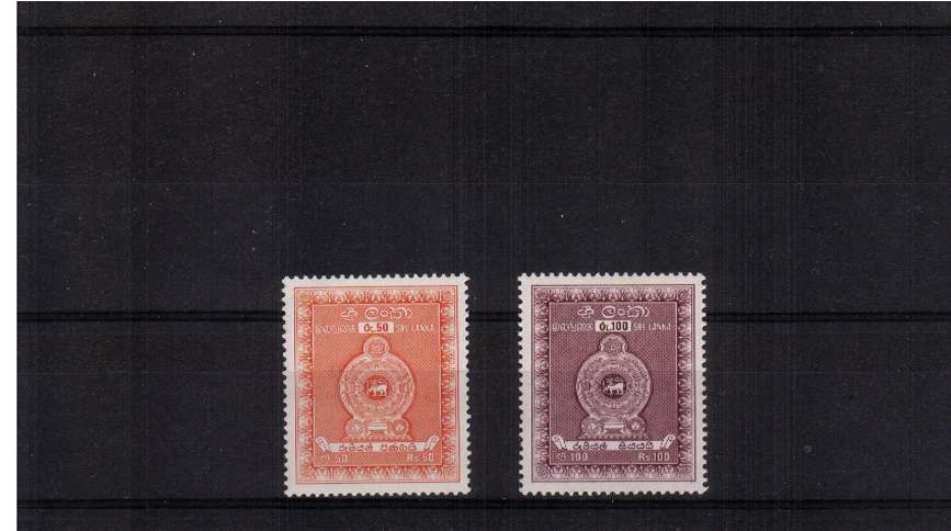 POSTAL FISCAL set of two superb unmounted mint.
