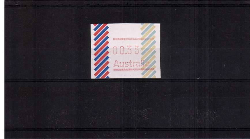 33c ''Barred Edge'' FRAMA single with no Post Code superb unmounted mint<br/>Issue Date:24 JUNE 1983