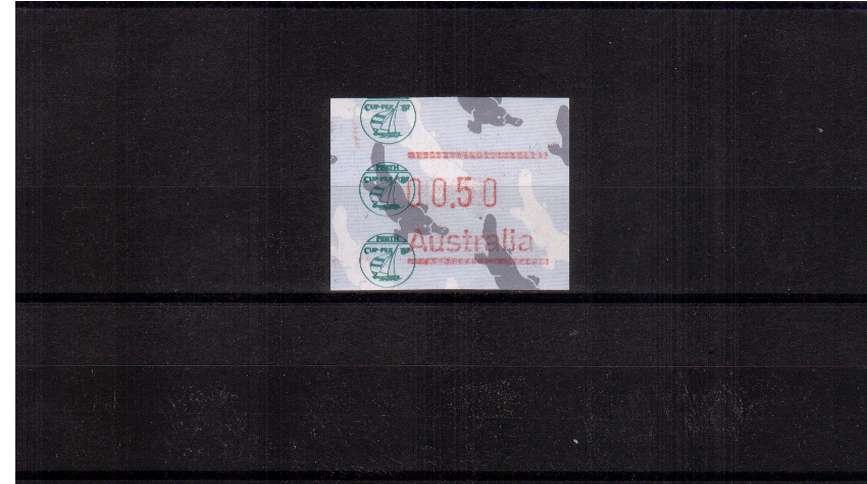 50c FRAMA commemorative single for CUPEX87 superb unmounted mint<br/>Issue Date:21 JAN 1987