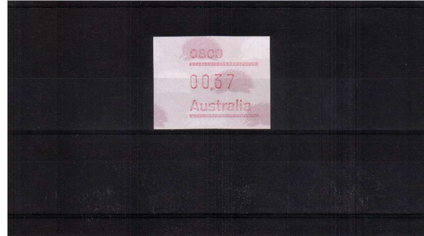 37c Echidna with 0800 Postcode FRAMA superb unmounted mint<br/>Issue Date: 1 JUNE 1988