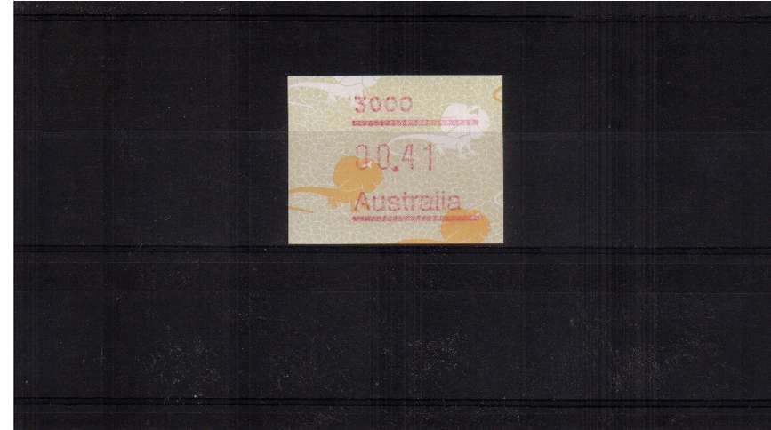 41c Lizard FRAMA single superb unmounted mint<br/>Issue Date: 1 SEPT 1989
