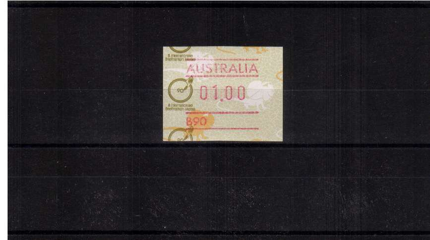 $1 FRAMA single with ESSEN commemorative overprint  superb unmounted mint<br/>Issue Date: 19 APRIL 1990