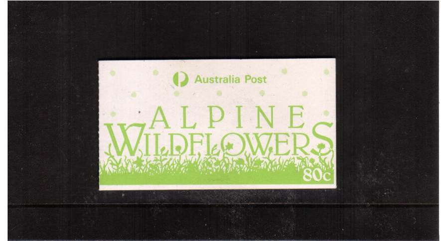 80c Alpine Flowers complete booklet