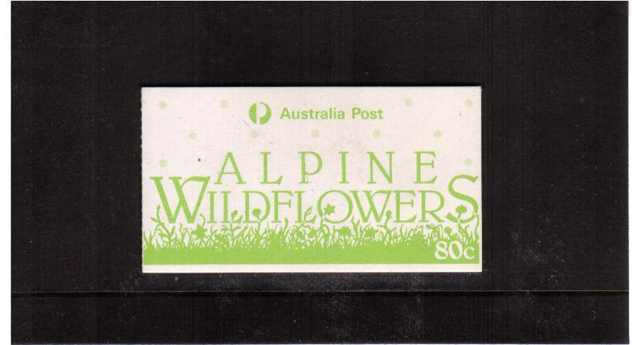 80c Alpine Flowers USED complete booklet