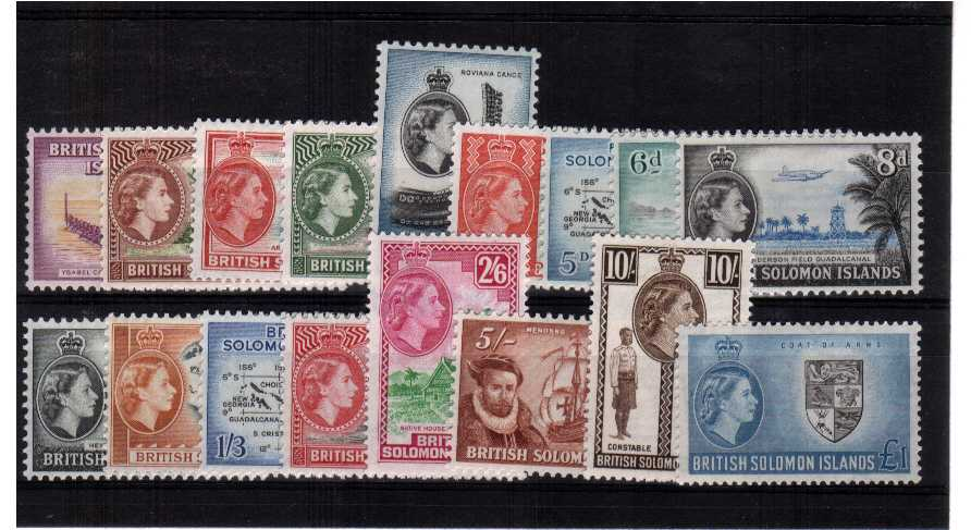 Mounted mint set of seventeen
