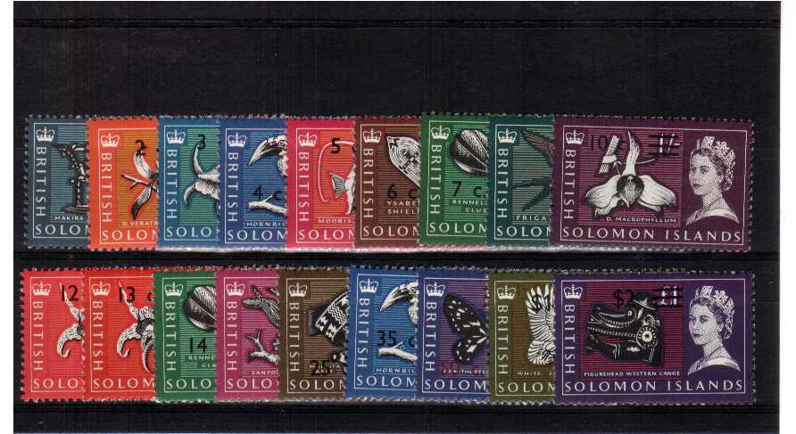 A superb unmouned mint set of eighteen - with watermark SIDEWAYS.<br><b>QRQ</b>