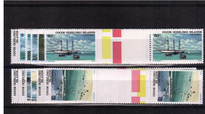Superb unmounted mint set of twelve in gutter pairs.