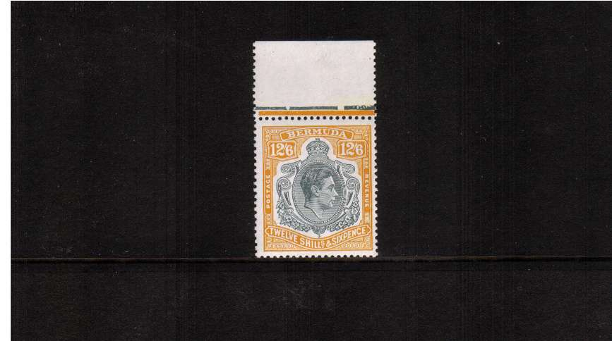 12/6d Grey and Pale Orange - Perforation 13<br/>