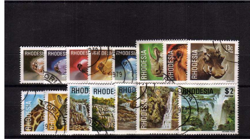 Superb fine used complete set of fifteen.